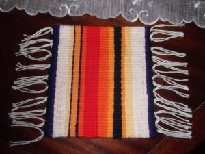FIRST TAPESTRY WEAVING ON LOOM 020
